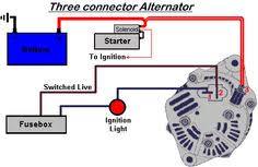 car alternator circuit schematic diy wiring diagrams \u2022 3 Wire Alternator Wiring Diagram 1998 ford ranger alternator wiring diagram omc stern drive rh pinterest com alternator voltage regulator schematic alternator schematic diagram