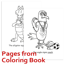 Signimalz Sign Language School Words Book and Coloring Book Set ...
