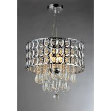 warehouse of antoinette 3 light chrome crystal indoor chandelier