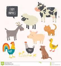 cute farm animals drawings. Exellent Farm Set Of Cute Farm Animals  Dog Cat Cow Pig Hen On Cute Farm Animals Drawings N