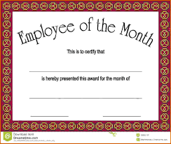 Employee Of The Month Certificatesreference Letters Words