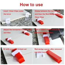 tile wedge spacers wish tile leveling system 300 clips 100 wedges plastic spacers tiling tool spacer