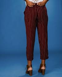 Blu Pepper Size Chart Belted Striped Pants
