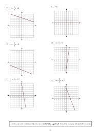 graphing linear equations worksheets the best image algebra 1 worksheet glencoe