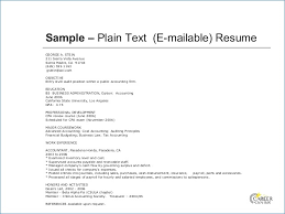 Ascii Resume Samples Plain Text Version Of Resume Nppusa Org