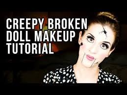 creepy broken doll makeup tutorial makeup look lauren s