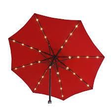 simply shade red market pre lit 9 ft patio umbrella
