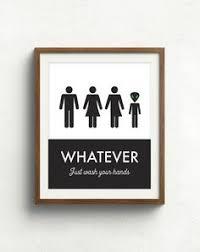 gender neutral bathroom sign funny. Plain Gender Unisex Bathroom Sign Funny Print In Gender Neutral N