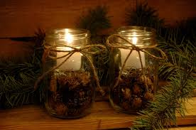Glass Jar Table Decorations Decorating Ideas Casual Picture Of Glass Jar Candle Holder Pine 36