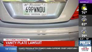 tennessee says woman s 69 plate is