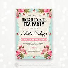 Tea Invitations Printable Printable Bridal Shower Invitation Bridal Tea Party Invite Bridal