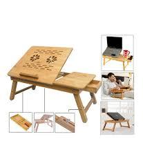 wooden portable multipurpose laptop table
