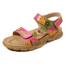 Socofy Size Chart Socofy Soft Handmade Pattern Genuine Leather Flat Sandals