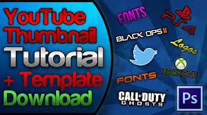 photoshop thumbnail youtube custom thumbnail tutorial free template download pack