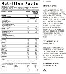 honey bunches of oats with almonds post consumer brands throughout honey bunches of oats nutrition