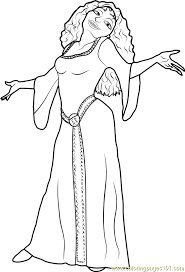 Small Picture Mother Gothel Coloring Page Free Tangled Coloring Pages