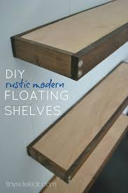 16 Deep Floating Shelves Classy DIY Rustic Modern Floating Shelves Part One