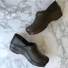 Dansko Leather Clogs Olive Green Size 37