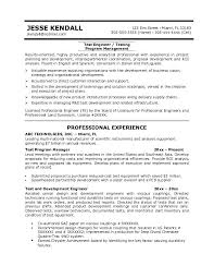 Rf Test Engineer Sample Resume Emc Test Engineer Sample Resume