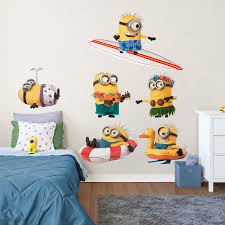 minions beach collection x large officially licensed removable wall decals fathead wall decal