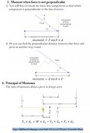 as level physics formula sheet force vectoroments
