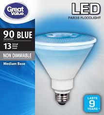 Walmart Great Value Led Light Bulbs Great Value Led P38 Floodlight Light Bulb 13w 90w
