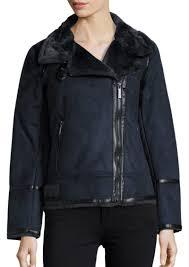 faux fur lined moto jacket michael michael kors
