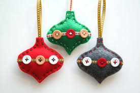 Felt Christmas Ornament Patterns Magnificent Felt Christmas Ornaments Xmas Patterns Decorations Templates