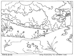 Creation Coloring Pages For Sunday School Bible Memory Verse Sheet