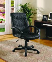 contemporary leather high office chair black. contemporary office chair with gas lift and padded arms in leatherlike black vinyl leather high d