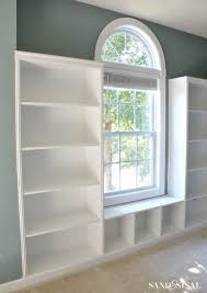 How to Build Built-in Bookshelves with beadboard + rope trim molding #3MDIY  #