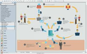 Sales Process Flow Chart Template Or Process Flow Diagram 3d