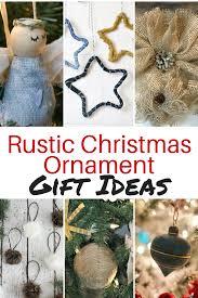 Rustic Christmas Ornament Gift Ideas | Diva of DIY