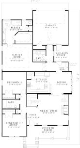 Hilgard Arts And Crafts Home Plan D    House Plans and MoreCountry House Plan First Floor   D    House Plans and More