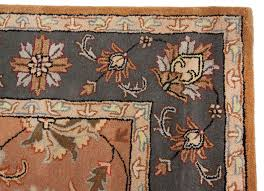 traditional wool area rugs beautiful persian orange grey handmade rug living room leather faux oriental s distressed plush for