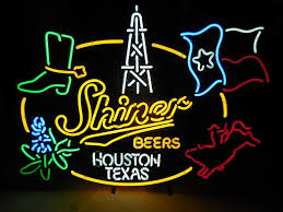 Shiner Neon Light Shiner Beer Dallas Texa Neon Sign Glass Tube Neon Light
