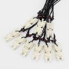 12pcs hawaii jewelry handmade carved bone tiki pendant new zealand maori tribal choker necklace