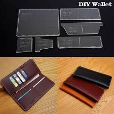 diy business long rectangle wallet template acrylic stencil leather craft