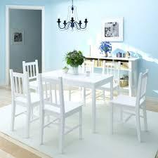Vidaxl Siebenteiliges Esstisch Set Pinienholz Weiß Real