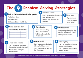 choose one of these to do using the 9 problem solving steps