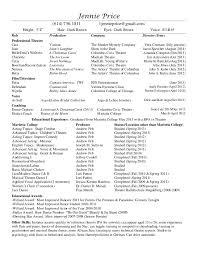Professional Theatre Resume. Jennie Price (614) 736-1011  1jennieprice@gmail.com Height: 5