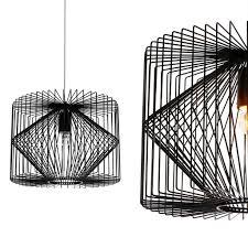 Luxpro Deckenleuchte Schwarz Metall Pendelleuchte Gitter Esszimmer Deckenlampe Vintage Retro Hängeleuchte Lampe Led Wohnzimmer