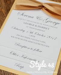 Style 48 Crossed Ribbon Flip Style Wedding Invitation