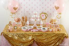 Pink and Gold Baby Shower with Kate Aspen | Featured on  PartiesforPennies.com | Baby