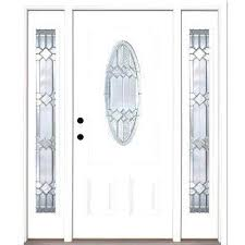 white front door with black hardware n