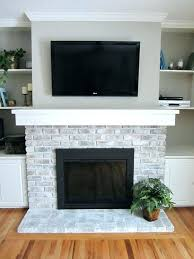 painted fireplace brick paint white