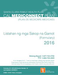 2016 Santa Clara Family Health Plan Cal Mediconnect Plan