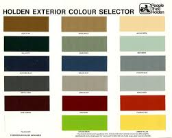 Holden Hz Colour Chart Brochure Page 1 Color Card Color