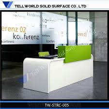 made by corian solid surface used reception desk acrylic lighted reception desk reception counter design