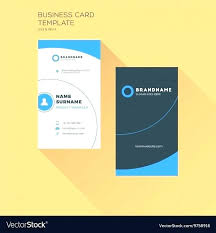 Vertical Business Card Print Template Personal Company Logo